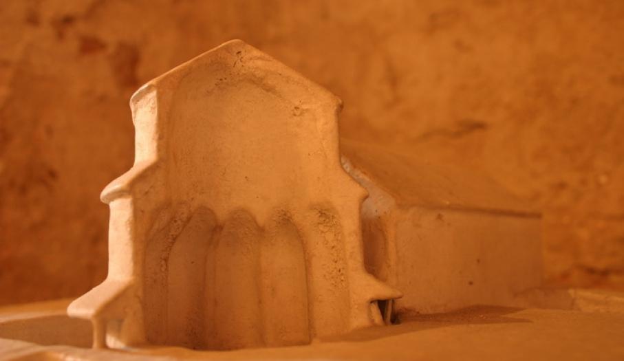 Model rotundy przy jednym z Palatium