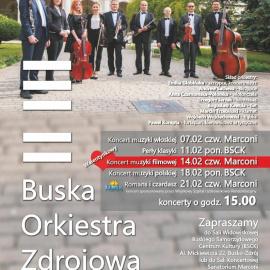 Terminarz Buskiej Orkiestry Zdrojowej - luty 2019