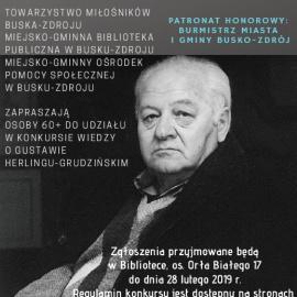 Konkurs wiedzy o Gustawie Herlingu-Grudzińskim