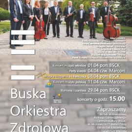 Terminarz Buskiej Orkiestry Zdrojowej - kwiecień 2019