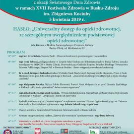 XVII Festiwal Zdrowia im. Zbigniewa Kociuby