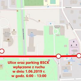 Informacja o czasowym zamknięciu ulic w dniu 1.06.2019 r.