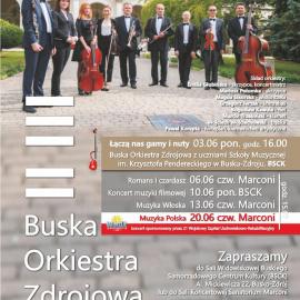 Koncerty Buskiej Orkiestry Zdrojowej – czerwiec 2019