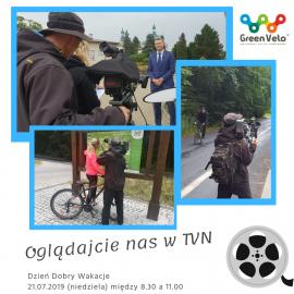 """Kielce i Wschodni Szlak Rowerowy Green Velo w """"Dzień Dobry Wakacje"""" w TVN !!!"""