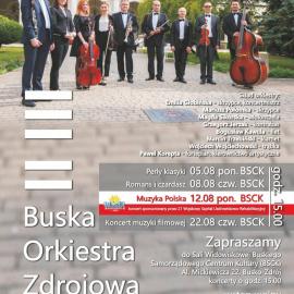Koncerty Buskiej Orkiestry Zdrojowej - sierpień 2019