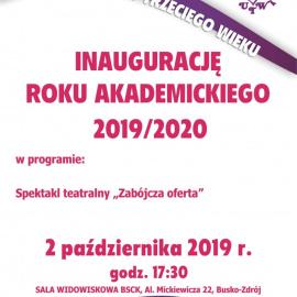 Zapraszamy na Inaugurację Roku Akademickiego UTW 2019/2020