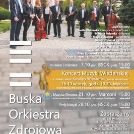 Koncerty Buskiej Orkiestry Zdrojowej - październik 2019