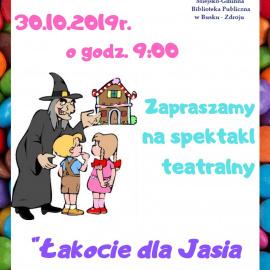 """Spektakl teatralny pt. """"Łakocie dla Jasia i Małgosi"""""""
