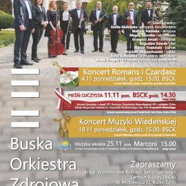 Koncerty Buskiej Orkiestry Zdrojowej - listopad 2019