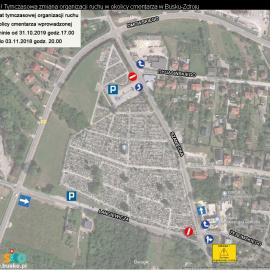 Uwaga! Tymczasowa zmiana organizacji ruchu w okolicy cmentarza w Busku-Zdroju