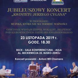 Jubileuszowy Koncert Kwintetu Jerzego Cygana