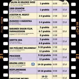 """Terminarz kina """"Zdrój"""" na GRUDZIEŃ 2019"""