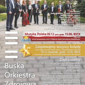 Koncerty Buskiej Orkiestry Zdrojowej - grudzień 2019