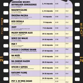"""Terminarz kina """"Zdrój"""" na STYCZEŃ 2020"""