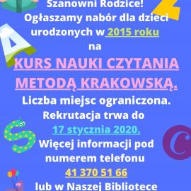Nauka Czytania w Miejsko- Gminnej Bibliotece Publicznej w Busku-Zdroju