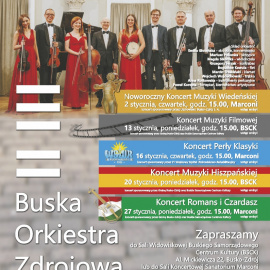 Koncerty Buskiej Orkiestry Zdrojowej - styczeń 2020