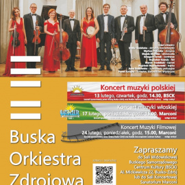 Koncerty Buskiej Orkiestry Zdrojowej - luty 2020