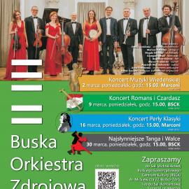 Koncerty Buskiej Orkiestry Zdrojowej - marzec 2020
