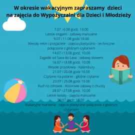 Zajęcia wakacyjne w Miejsko-Gminnej Bibliotece Publicznej w Busku-Zdroju