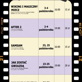 Terminarz kina na październik 2020