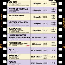 Terminarz kina na listopad 2020
