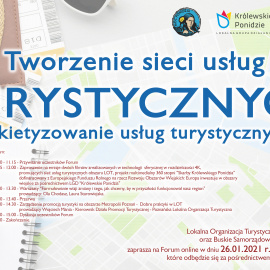 """Zaproszenie na Forum, pt """"Tworzenie sieci usług turystycznych- pakietyzowanie usług turystycznych"""""""
