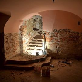 Remont zabytkowych piwnic w jędrzejowskim Muzeum