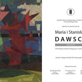 Wystawa: MARIA I STANISŁAW DAWSCY. Malarstwo. 30 lat kolekcji w Muzeum Okręgowym w Sandomierzu