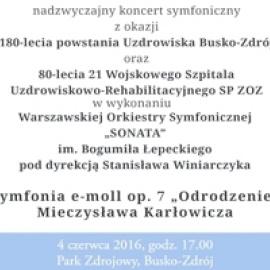 Koncert Symfoniczny 180-lecia Uzdrowiska w Parku Zdrojowym